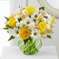 Bouquê de Rosas Amarelas e Margaridas Brancas