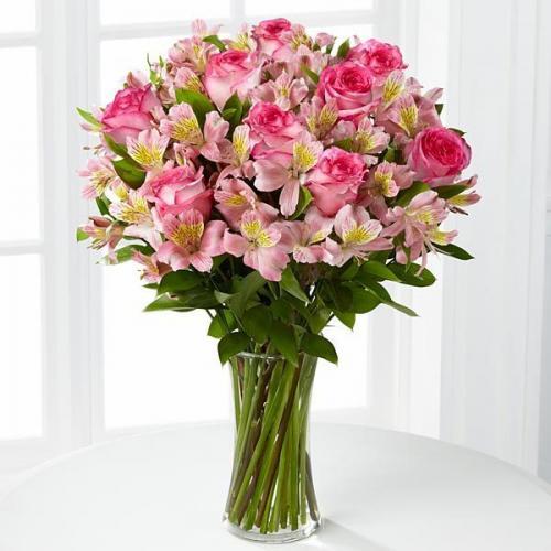 Bouquê de Rosas Cor-de-Rosa